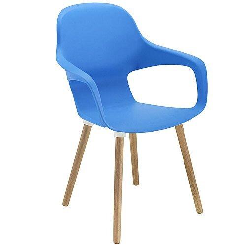 Ariel 2 Canteen &Breakout Wooden Leg Chair Blue