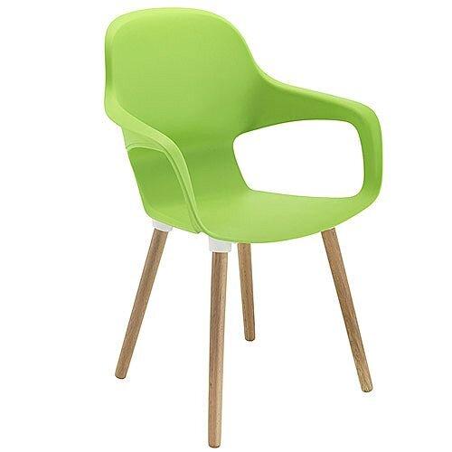 Ariel 2 Canteen &Breakout Wooden Leg Chair Green