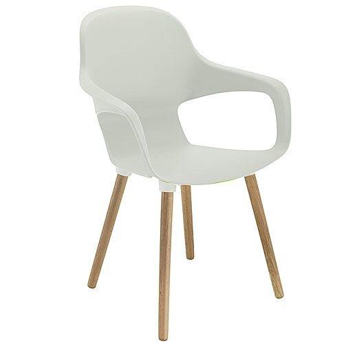 Ariel 2 Canteen &Breakout Wooden Leg Chair White
