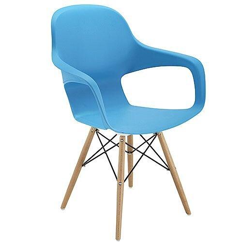 Ariel 2 Canteen &Breakout 4 Leg Wooden &Wire Chair Blue