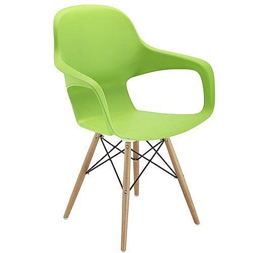Ariel 2 Canteen &Breakout 4 Leg Wooden &Wire Chair Green