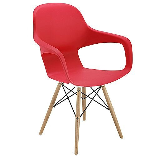 Ariel 2 Canteen &Breakout 4 Leg Wooden &Wire Chair Red
