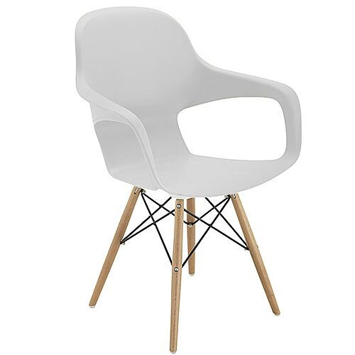Ariel 2 Canteen &Breakout 4 Leg Wooden &Wire Chair White