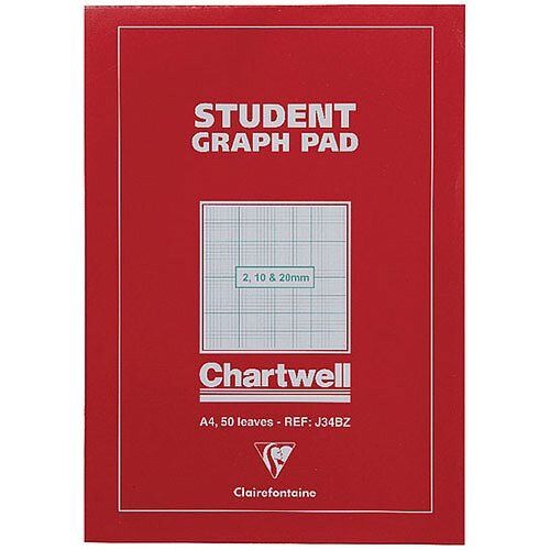 Chartwell Graph Pad A4 50 Sheets 2-10-20mm J34B