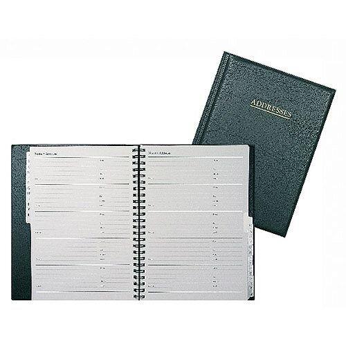 Collins Wiro Address Book 120x148mm Black BA5