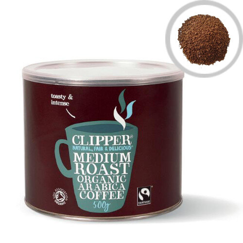 Clipper Organic Medium Roast Instant Coffee 500g Pack 1 A06762
