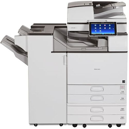 "Ricoh MP 2555SP 25ppm A3 Mono (Black &White) Multifunctional Printer - Copy, Print, Scan - 10.1"" Display, Mobile Print Support, 100-sheet ARDF, 2x 550 Sheet Paper Trays, USB/SD Card Slot, USB 2.0, Gigabit Ethernet"