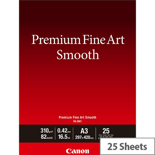 Canon Premium Fine Art Smooth A3 Photo Paper 25 Pack 1711C003