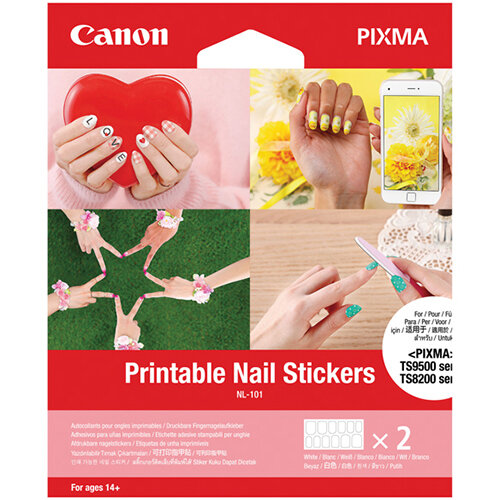 Canon Printable Nail Stickers NL-101 Pack of 24 32303C002