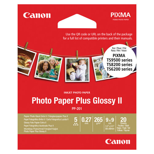 Canon Photo Paper Plus PP-201 3.5x3.5in Pack of 20 2311B070