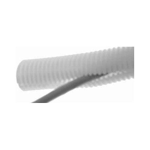 25mm SLIT White Plastic Flexible Conduit Cable Tidy Tube 50m