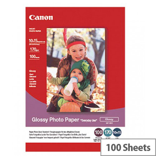 """Canon 6x4"""" Gloss Photo Paper (Pack of 100)"""