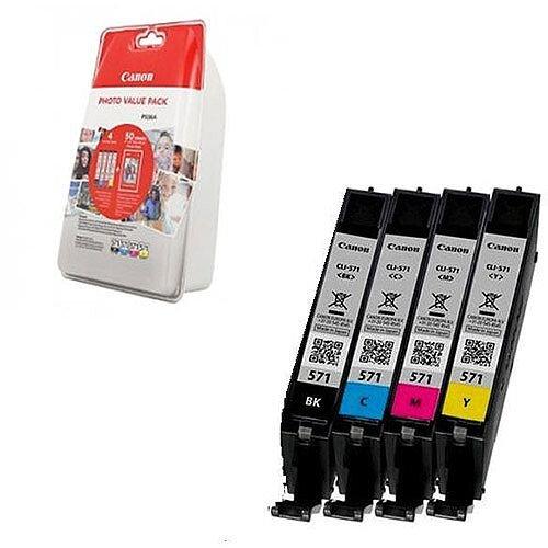 Canon CLI-571 Black/Colour Inkjet Cartridge 0386C006