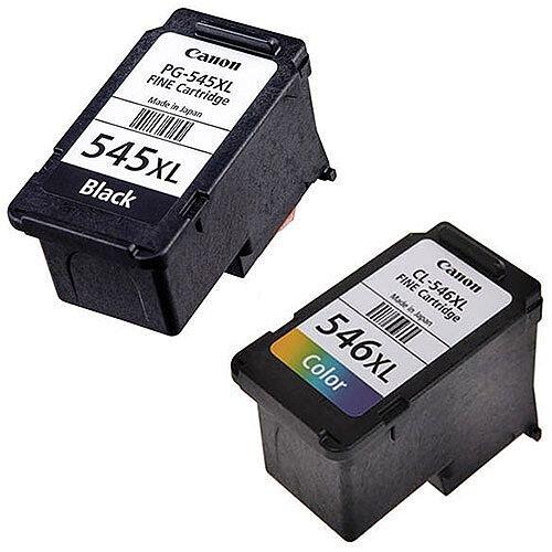 Canon PG-545XL BK/C/M/Y ( 8286B006 ) 4 Colours: Black, Cyan, Magenta, Yellow High Yield Ink Cartridge Original Pack of 2