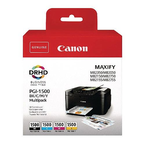 Canon PGI-1500 BCMY Ink Cartridge Multi Value Pack of 4 9218B005