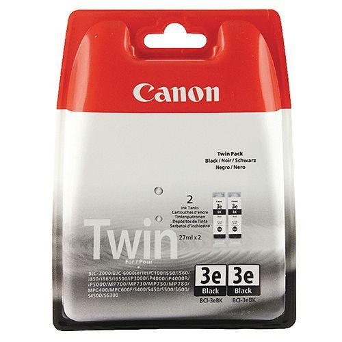 Canon BCI-3eBK Black Twin Pack Ink Cartridge 4479A287