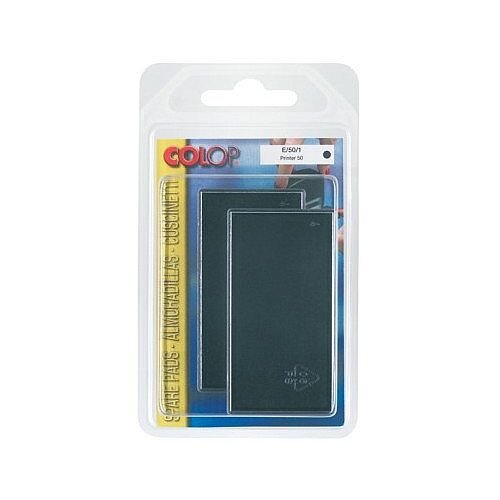 Colop Replacement Ink Pad E/50 to suit Colop Printer L50, Soft 50 Rubber Stamps Black