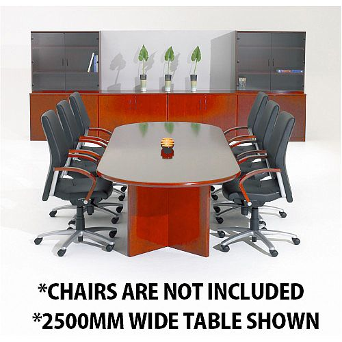 Corniche Executive Cherry Veneer Boardroom &Conference Room Table 10 - 12 Seater W3000xD1100xH720mm