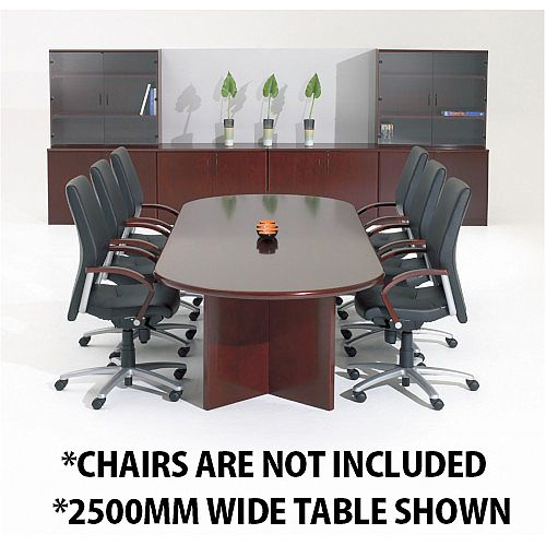 Corniche Executive Cherry Rosewood Veneer Boardroom &Conference Room Table 10 - 12 Seater W3000xD1100xH720mm