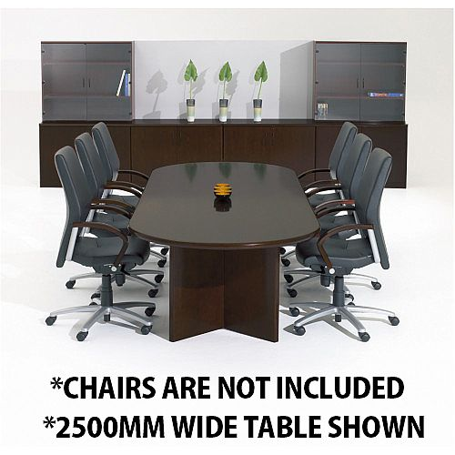Corniche Executive Cherry Walnut Veneer Boardroom &Conference Room Table 12 - 14 Seater W4000xD1100xH720mm