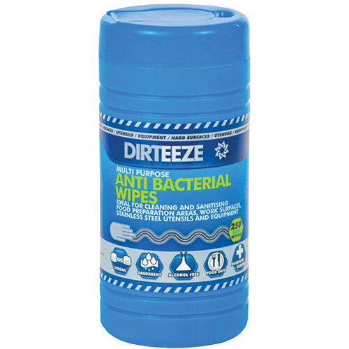 Dirteeze Multipurpose Antibacterial Wipes 80 Sheet Tub HMAXCL250QF