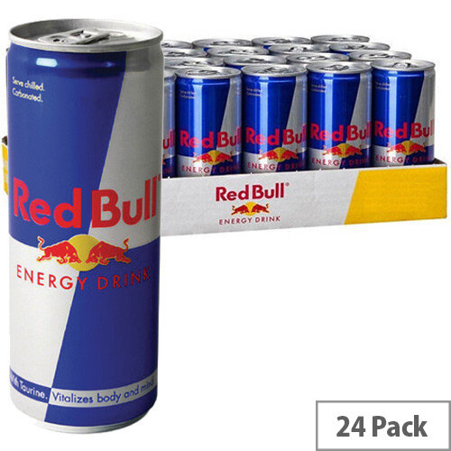 red bull energy drink 250ml cans pack of 24 402035. Black Bedroom Furniture Sets. Home Design Ideas