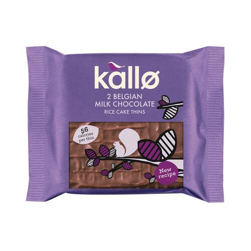 Kallo Milk Chocolate Rice Cake Thin Pack of 21 0401171