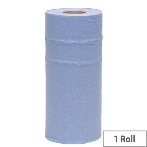 2Work 10 inch Paper Cleaning Roll Blue HR2240