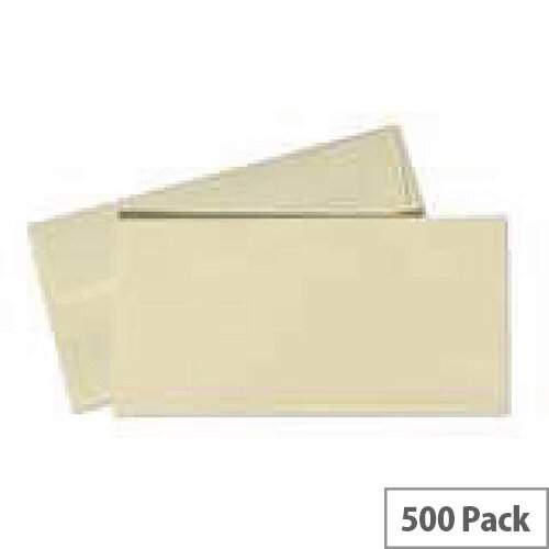 Conqueror Wove DL Wallet Envelopes Peel and Seal Cream 120gsm Pack of 500