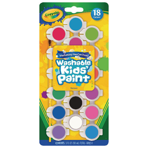 Crayola Washable Kids Poster Paints Pack of 108 54-0125