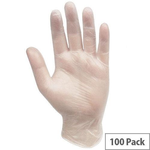 Professional Hygiene Vinyl Powder Free Clear Gloves Medium 100