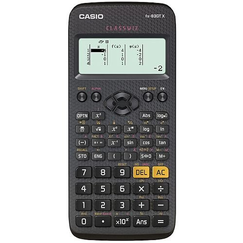 Casio FX-83GTXBLACK - Scientific Calculator - Schools & Exams Approved - 276 Advanced Functions, Solar and Battery Powered, Protective Slide-on, Large Textbook Display - Black