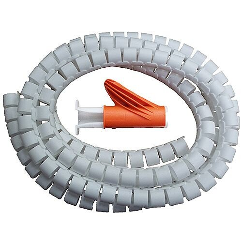 25mm White 2.5m Cable Tidy Kit for Cables 360 Degree Flexibility