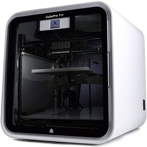 3D Systems Cube Pro 3D Printer 2 Print Heads 70 Microns Resolution