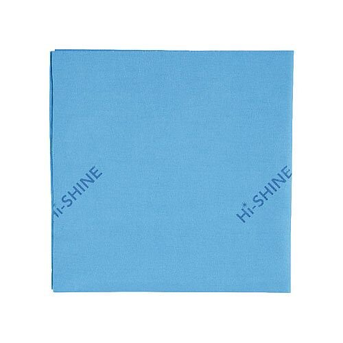 Hi-Shine Glass Shine Surfaces Colour Coded Cleaning Cloths Blue 40x40cm Pack of 10 MIDHB410O