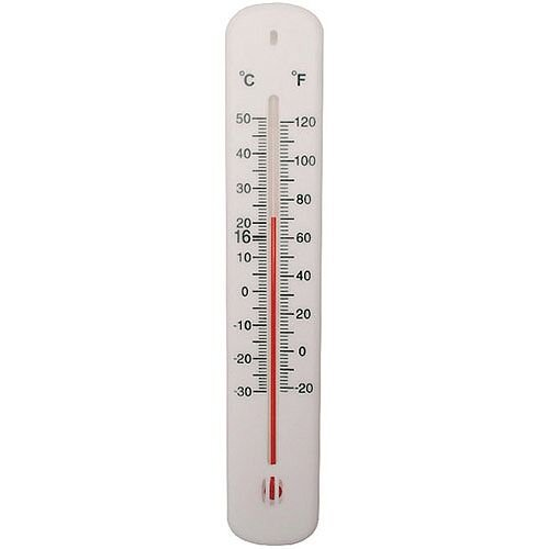 Office Thermometer H200xW45mm White (Pack of 1) TP023ABS