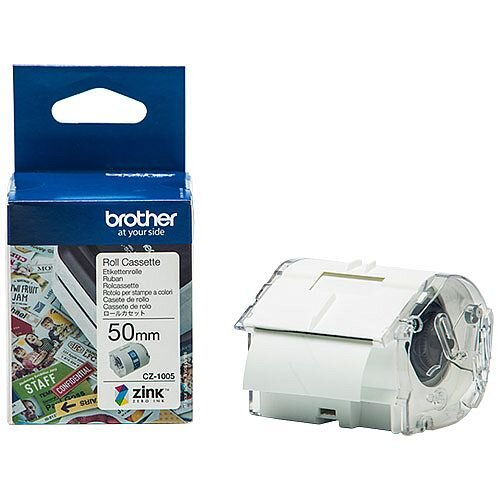 Brother CZ1005 Full colour Continuous Paper Tape 50mm wide