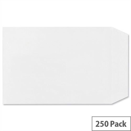 Plus Fabric C5 White 110gsm Envelopes Pocket Self Seal Pack 250