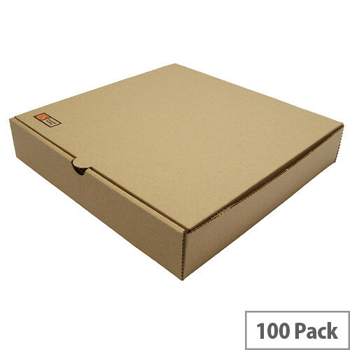 Disposable 9inch Brown Kraft Pizza Boxes Pack of 100