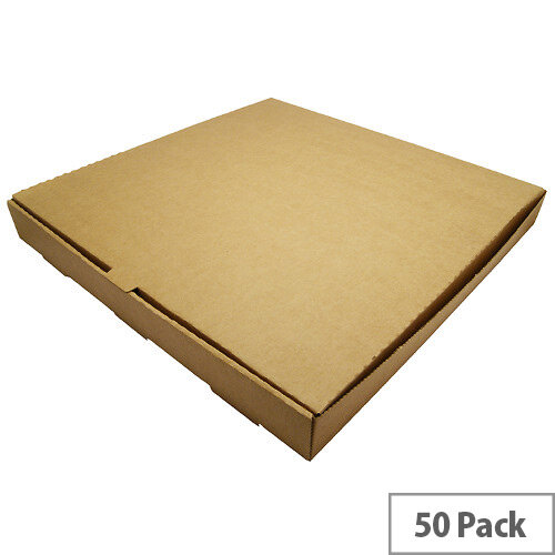 Disposable 16inch Brown Kraft Pizza Boxes Pack of 50