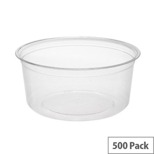 Compostable PLA 8oz Round Disposable Deli Containers Pack of 500