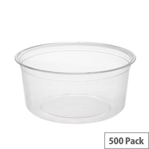 Compostable PLA 12oz Round Disposable Deli Containers Pack of 500