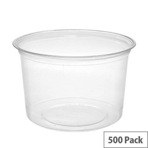 Compostable PLA 16oz Round Disposable Deli Containers Pack of 500