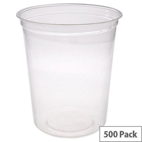 Compostable PLA 32oz Round Disposable Deli Containers Pack of 500
