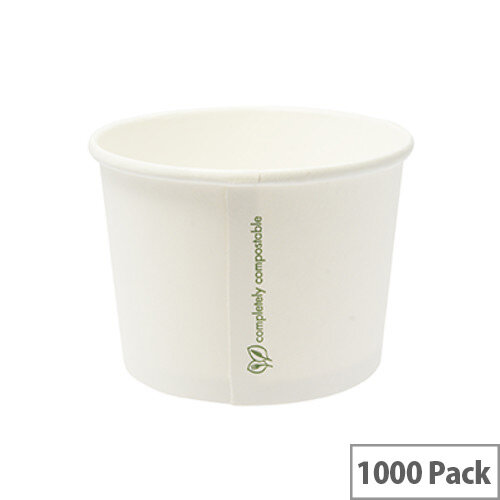 Compostable 8oz/250ml Disposable Containers Pack of 1000