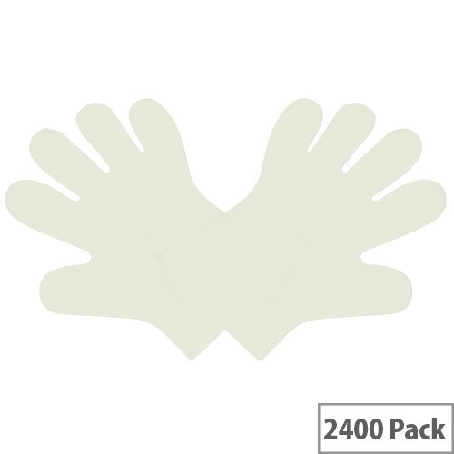 Compostable Disposable Food Preparation Gloves Natural Medium Pack of 24x 100