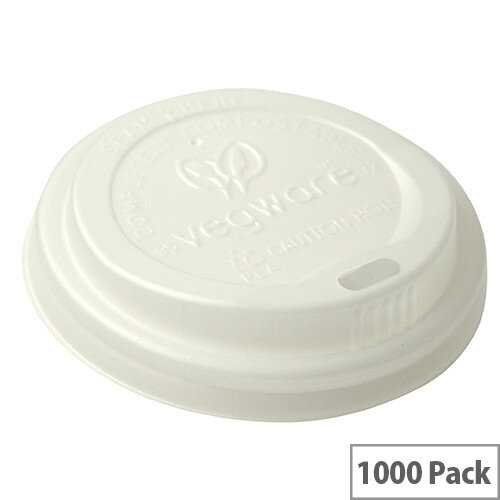 72mm Compostable CPLA Hot Cup Lids for 6oz Disposable Cups Pack of 1000