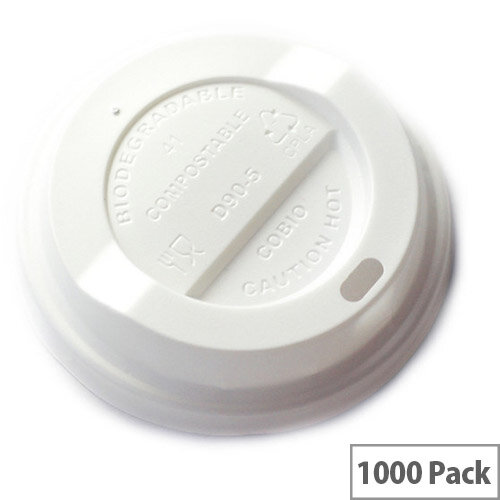 79mm Compostable CPLA Hot Cup Lids for 8oz Disposable Cups Pack of 1000