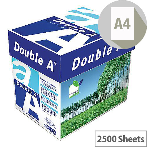 Double A A4 80gsm White Premium Paper Box of 2500 Sheets