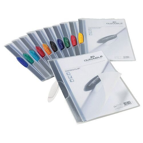 Durable Swingclip Folders 3mm Assorted Pk25 2260/00